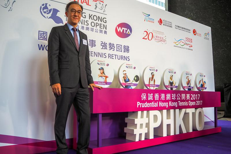 香港網球總會會長莫君逸。