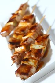 黑豚肉大蔥串燒$38
