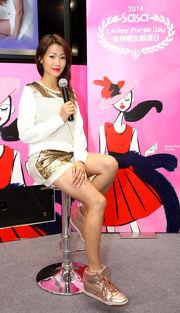 江碧蕙為馬迷分析莎莎婦女銀袋賽各駒狀態。