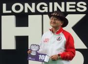 浪琴表香港一哩錦標 -  來自日本的練馬師矢作芳人為其戰馬「大賽波士」抽得第10檔。