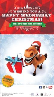 """圖1、2、3:<br> 12月3及17日(星期三),跑馬地馬場的聖誕慶祝派對 """"Wishing You A Happy Wednesday Christmas!""""將為你帶來連串精彩節目,包括不一樣的聖誕表演,吃喝玩樂應有盡有,加上刺激的賽馬,讓各位投入一個充滿節日氣氛的Happy Wednesday。"""