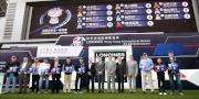 浪琴表香港一哩錦標 - 浪琴表香港一哩錦標排位抽籤完成後,主禮嘉賓與各駒的馬主、練馬師及代表合照。