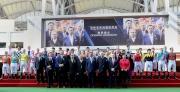 圖8、9:<br> 浪琴表香港國際賽事開幕儀式於馬匹亮相圈舉行。香港特別行政區行政會議召集人林煥光議員聯同馬會董事、幹事、嘉賓及各參賽騎師一起主持開幕儀式。(圖1—前排右起)LONGINES香港區副總裁歐陽楚英、馬會行政總裁應家柏、LONGINES總裁霍凱諾、馬會主席葉錫安傅士、香港特別行政區行政會議召集人林煥光議員、馬會副主席周永健、斯沃琪集團(香港)董事總經理盧克勤及LONGINES優雅形象大使彭于晏。