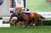 圖1, 2, 3<br>四歲馬系列次關賽事香港經典盃今日於沙田馬場舉行,由蔡約翰訓練的「酷男」(4號馬),於田泰安胯下勝出此賽。莫雷拉策騎的「精彩鬥士」(9號馬)與「大印銀紙」(2號馬)則於這場途程1800米的香港一級賽中分別跑獲亞軍及季軍。
