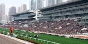 農曆新年賽馬日吸引大批市民入場觀看賽馬歡度新歲。