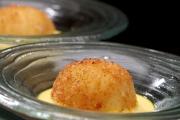香炸蛋黃薯仔球配紅花蛋黃醬<br> (2014 Luxembourg Culinary World cup – 金獎)