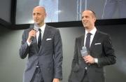 愛彼大中華區行政總裁梵衛及愛彼市場行銷總監Tim Sayler在愛彼女皇盃派對上歡迎所有嘉賓蒞臨。