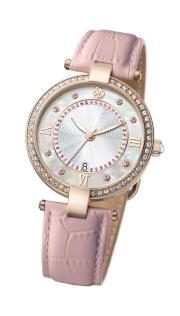 水晶貝母腕錶 (鑲嵌施華洛世奇元素)