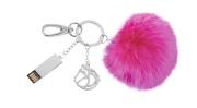粉紅毛球吊飾USB (16GB)
