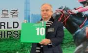 浪琴表香港瓶 –馬會前董事及澳洲賽駒「加官進爵」的馬主代表布魯士為該駒抽得第10檔。