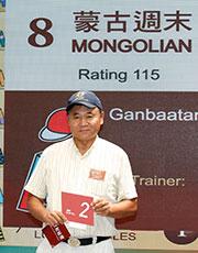 練馬師伊奈拔殊為旗下賽駒「蒙古週末」抽得第2 檔。