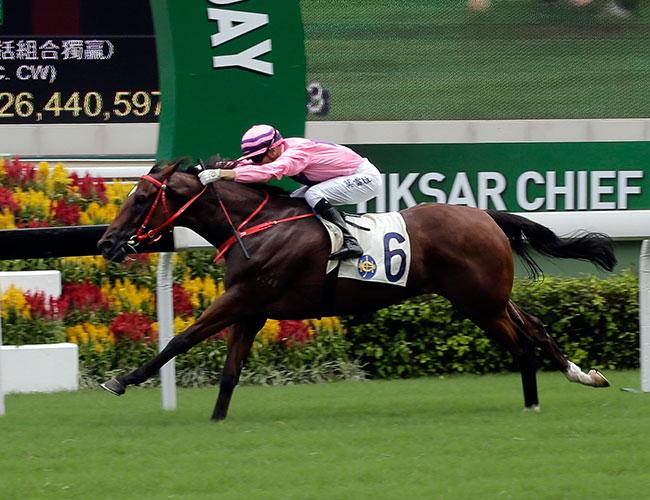 莫雷拉主策由沈集成訓練的「永旺年年」勝出今日在沙田馬場舉行的香港特區行政長官盃(第一班,1200米)。