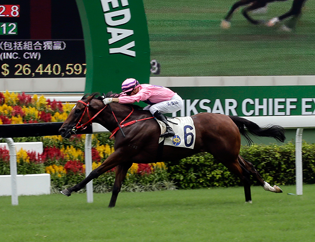 Lucky Year takes the Chief Executive's Cup as luckless Blizzard storms late.