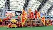 4,5<br>繽紛多彩的醒獅匯演為開鑼儀式添上熱鬧氣氛。
