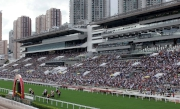 10.1 公眾假期,馬迷到沙田馬場參與國慶賽馬日。