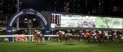 圖1, 2, 3, 4<br> 浪琴表國際騎師錦標賽首關在第四場上演,澳洲代表布文策騎「首映」(4號)先拔頭籌。
