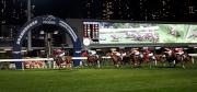 圖5, 6, 7, 8<br> 英國代表莫雅策騎「事勝意」(6號)贏得浪琴表國際騎師錦標賽第二關。