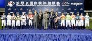 圖10<br> 浪琴表國際騎師錦標賽頒獎嘉賓、馬會董事及行政總裁與參賽騎師合照。