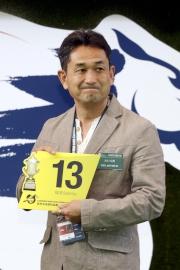 浪琴表香港短途錦標 –「大仁大勇」的練馬師藤岡健一為該匹日本代表抽得第13檔。