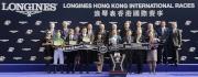 浪琴表香港瓶頒獎典禮大合照。