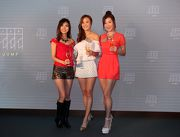 藝員張秀文、朱智賢及陳婉衡出席全新餐廳JUMP「出閘」開幕禮及介紹設施。