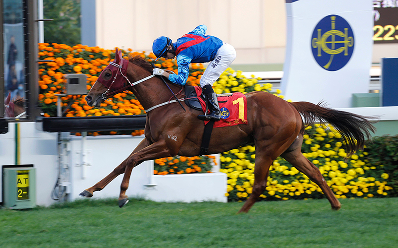 Joao Moreira steers Rapper Dragon to an impressive victory in the Hong Kong Classic Mile last month.