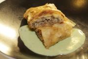 希臘式羊肉芝士卷配薄荷乳酪