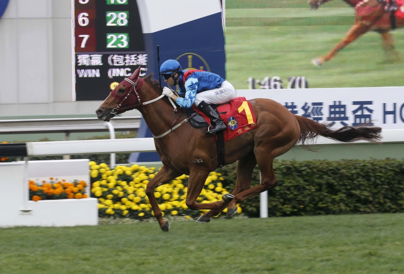 Rapper Dragon lands a stylish victory in the Hong Kong Classic Cup last start.
