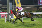 Land Grant breaks his local maiden in the Indian Recreation Club Challenge Cup last season.
