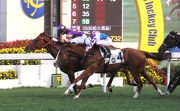 Western Express (inside) gets the better of New Asia Sunrise to land back-to-back wins last start.