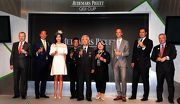 Dr Simon Ip (2nd from left), Chairman of HKJC; Winfried Engelbrecht-Bresges (1st from left), CEO of HKJC; Anthony Kelly, (1st from right) Executive Director of Racing Business and Operations of HKJC; senior officials from Audemars Piguet, and the owner of Audemars Piguet QEII Cup winner Neorealism, toast for the success of this year's AP QEII Cup.
