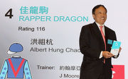 Owner Albert Hung Chao Hong draws Gate 5 for Rapper Dragon.