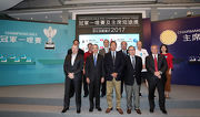 The Club��s Chairman Dr Simon Ip, Deputy Chairman Mr Anthony Chow, Steward The Hon Martin Liao, Chief Executive Officer Winfried Engelbrecht-Bresges, Executive Director, Racing Business and Operations Anthony Kelly, and connections of the Champions Mile runners pose for a group photo.