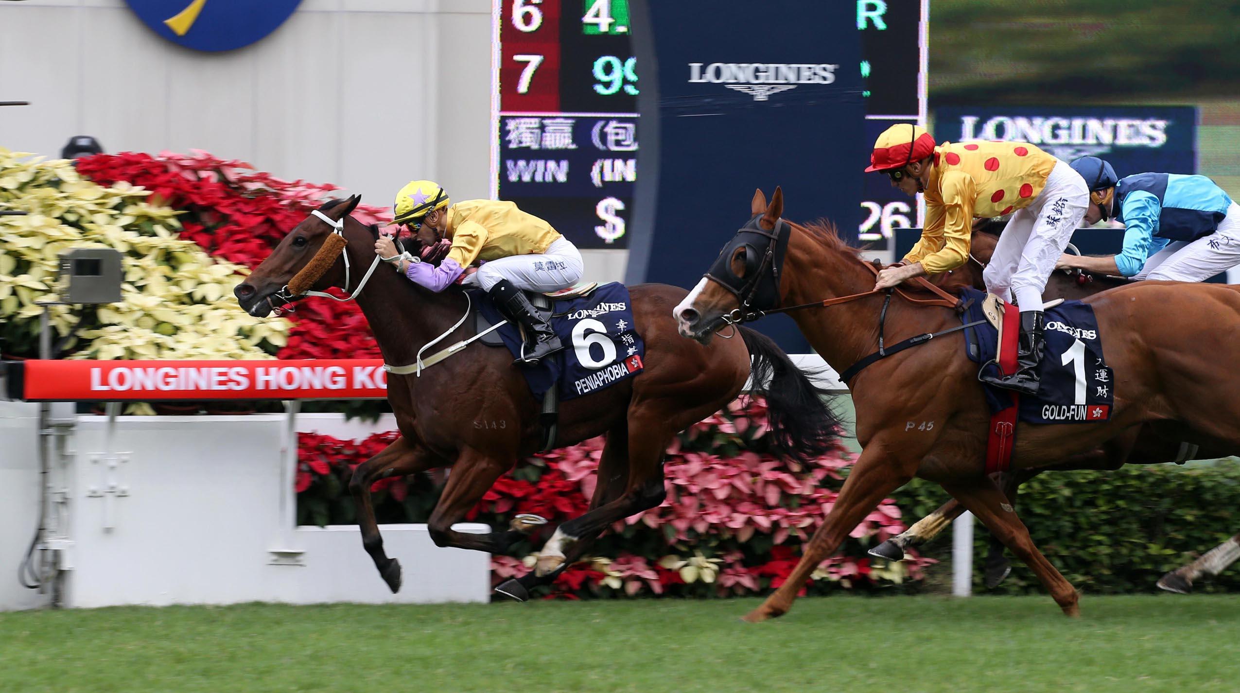 「幸福指數」以出色表現攻下2015年浪琴表香港短途錦標。