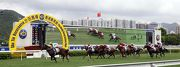 Rocketeer races away to win the Class 2 Hong Kong Young Industrialists Council Silver Jubilee Cup Handicap (2000m) for John Moore and Douglas Whyte.