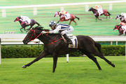Danny Shum-trained Seasons Bloom, ridden by Joao Moreira, emerged as a LONGINES Hong Kong Mile contender after his win in the Class 2 Moon Koon Handicap (1600m).