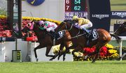 Aerovelocity fends off Peniaphobia to take his first G1 LONGINES Hong Kong Sprint in 2014.
