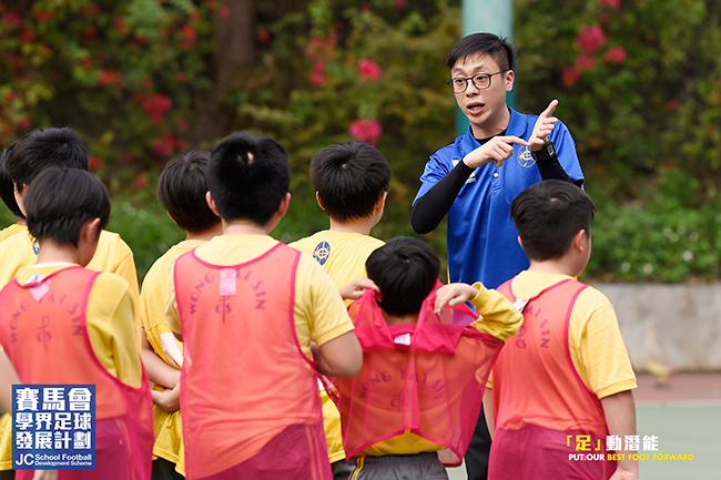 Benjamin 相信,在學界足球發展計劃的得著將能夠幫助自己實踐因材施教的教學理念。