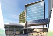 「賽馬會健康一體化大樓」</strong>工程完成後的構想圖。