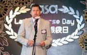 香港賽馬會賽馬事務執行總監利達賢先生於記者會上致演講辭。