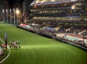 浪琴表國際騎師錦標賽今晚在跑馬地舉行,現場觀眾達15,431人,氣氛十分熱鬧。