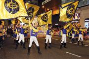 馬會花車的表演隊伍來自馬會長期合作夥伴香港演藝學院及香港青年協會,展現馬會多年來培育年輕人發揮所長,實現理想的成果。